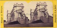 Vienna Gloriette Stereo Charles Gaudin? Parigi Vintage Albumina Ca 1865