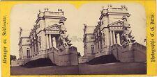Vienne Gloriette Stéréo Charles Gaudin ? Paris Vintage albumine ca 1865