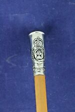 More details for military royal engineers swagger stick king's crown