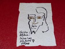 [Coll.R-JEAN MOULIN ART XXe] LADISLAS KIJNO PAPIER FROISSE ORIGINAL JESUS CHRIST