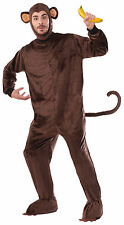 Adult Monkey Costume Full Body Jumpsuit w/ Headpiece Mascot Size Standard