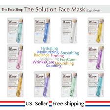 The Face Shop The Solution Mask Sheet 20g +Free Sample (choose sheet) US Seller