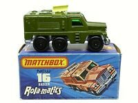 Matchbox Superfast No.16e Badger Radar Truck In Type 'J' Box (RARE OLIVE DRAB)