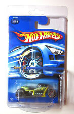 2006 HOT WHEELS - YELLOW AIRY 8 MOTORCYCLE MAIL IN MYSTERY CARS REAL RIDERS #221