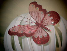 Large Red Pretty Clip-on Glitter Jewel Butterfly-Weddings-Decorative-Parties