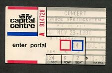 1980 Bruce Springsteen concert ticket stub Capital Centre Md The River Tour