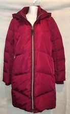 Lands' End Women's Burgundy Long Down Winter Coat Size XXS 00-0 New with Tags