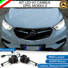KIT FULL LED OPEL MOKKA X LAMPADE H7 6000K BIANCO 9800 LUMEN CANBUS NO ERROR