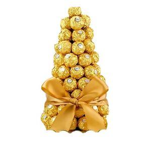 Ferrero Rocher Tree Christmas Chocolate Hamper Gift Bouquet Personalise Sweets