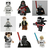 Star Wars Last Jedi Lego Darth Vader Kylo Ren Han Solo Mini Figures 60+ Designs