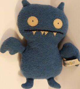 "VTG Ugly Doll Ice Bat Plush 6.5"" Little Uglys Blue Stuffed Toy Pretty Ugly 2002"