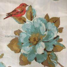 "Floral Bird WINDOW DRAPES CURTAINS PANELS Set 50x84"" ENVOGUE Teal Rust Gold NEW"