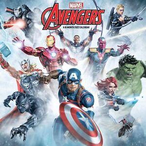 Marvel Comics The Avengers 16 Month 2022 Wall Calendar NEW SEALED