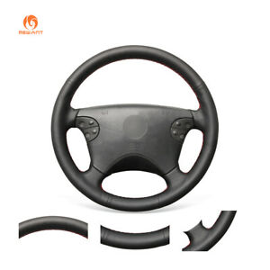 MEWANT PU Leather Car Steering Wheel Cover for Mercedes Benz W208 W210 W463