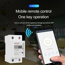 WDS688 Single Phrase DIN Rail WiFi Smart Energy Meter App Remote Control 5(60)A