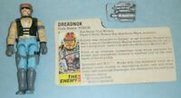 1985 GI Joe Cobra Dreadnok Biker Torch v1 Action Figure w/ File Card & Accessory