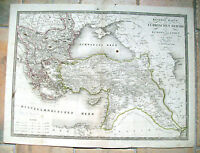 1824 CARTA GEOGRAFICA IMPERO TURCO  E GRECIA. DI F.FRIED. ARTARIA. ISRAELE IRAQ