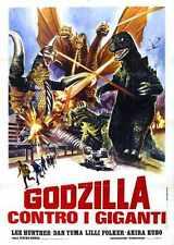 Godzilla Vs Gigan Poster 04 Blechschild A4 12x8 Aluminium