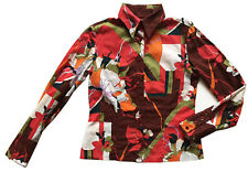 VTG LUXURY MISS SIXTY Italy Floral Print Women's Button-Down Cotton Blouse Sz M