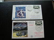 FRANCE - 2 enveloppes 1er jour 21/3/1959 (journee du timbre) (cy80) french