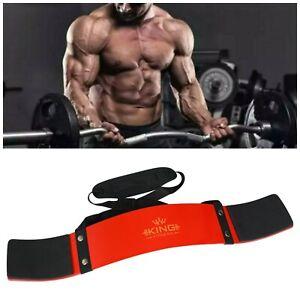 UK KING Red Bicep Isolator Gym  Bar Curl Blaster Arm Training Weight Lifting
