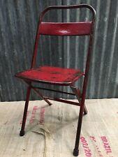 Industrial Vintage Antique Retro Metal Folding Chair Patina Mid Century (001)