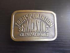 Vintage Belt Buckle Transportation Services Inc Glendale AZ by Hit Line Brass