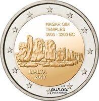 Pièce de 2 euros commémorative MALTE 2017 - Hagar Qim - UNC - 350 000 unités