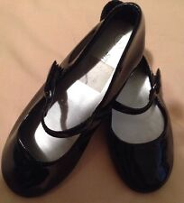 SMART FIT Black Girls Shoes Size 11 Soft Padded Faux Leather.