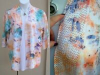CJ Banks NEW pastel watercolor gems sweater plus size 2x EASTER SPRING knit top