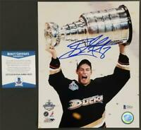 Ryan Getzlaf signed 8x10 Photo Anaheim Ducks Stanley Cup Autograph ~ BAS COA