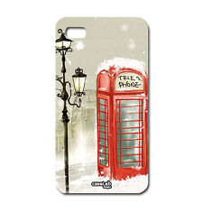 CUSTODIA COVER CASE LONDRA TELEPHONE LONDON SNOW PER CELLULARE IPHONE 5 5S