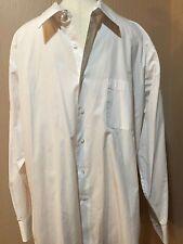 Bergamo NY Shirt Mens Size Extra Large XL 17-17.5 34/35 White Long Sleeve Dressy