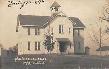 F37/ Darbyville Ohio RPPC Postcard c1910 Pickaway County Public School