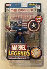Captain America Marvel Legends Series 1 Action Figure Toy Biz 2002 MOC MOSC