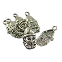50pcs Alloy Tibetan Silver Christmas Hat Pendants Charms Jewelry Findings