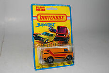 MATCHBOX SUPERFAST #68 CHEVY VAN, ORANGE W/ RED & BLACK TAMPO, BLISTERPACK
