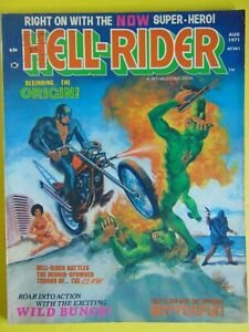 Hell Rider #1 and #2 Skywald magazines 1971 Ghost Rider prototype.
