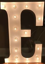 "NEW Pottery Barn Kids WHITE Marquee Letter ""E"" Light"