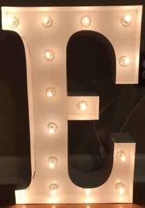 """NEW Pottery Barn Kids WHITE Marquee Letter """"E"""" Light"""