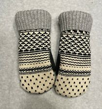 Bernie Style Handmade Recycled Wool Sweaters Fleece Lined Mittens Med 3