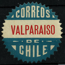 CHILE, OFFICIAL SEAL, VALPARAÍSO, SAWTOOTH, MINT HINGED