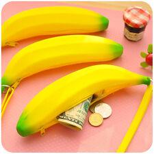 Funny Novelty Silicone Portable Banana Coin Pencil Case Purse Bag Wallet Pouch