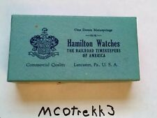 VINTAGE Hamilton Watches The Railroad Timekeepers of America Mainspring Box only
