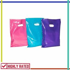 MERCHANDISE BAGS Plastic with Handles Shopping Retail Large Glossy ACME BAG BROS
