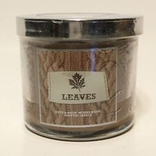 NEW 1 BATH & BODY WORKS HOME LEAVES 4 OZ SCENTED FILLED MEDIUM 1-WICK CANDLE