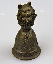 Bronze Glocke Tischglocke Klingel Katze