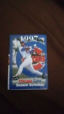 1997 MLB CHICAGO CUBS  BASEBALL SCHEDULE