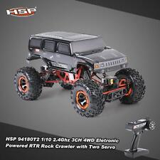 HSP 94180T2 1/10 2.4G 3CH 4WD Electronic Brushed Motor Rock Crawler RC Car F8H6