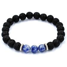 Charms Mens Beaded Bracelets 8mm Natural Gemstone Beads Yogo Bracelets For Women